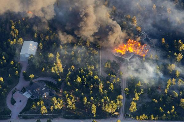 Black Forest wildfire in Colo., June 2013.