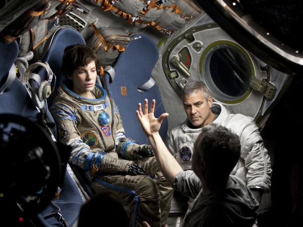 Bullock, on the <em>Gravity</em> set with co-star George Clooney and director Alfonso Cuaron, spent most of the shoot alone, in a box, to create the required sense of isolation and weightlessness.