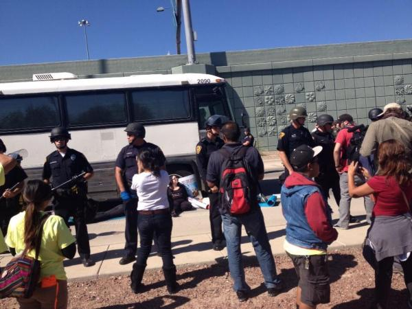 Activists In Tucson Halt Deportation Hearings With Protest