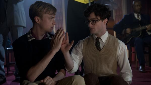 "In <em>Kill Your Darlings, </em>Dane DeHaan (left) plays Lucien Carr, a man whose charm and wit quickly command the attention of the young Allen Ginsberg (Daniel Radcliffe) in their time at Columbia University. John Krokidas' film chronicles the ""Libertine Circle"" they inhabited — Ginsberg's nickname — and the events that would shatter it."