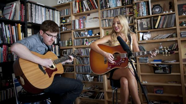 Ashley Monroe performs at a Tiny Desk Concert in September 2013.
