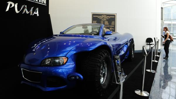 The Youabian Puma has turned heads at the LA Auto Show, where attendees have been startled by its 20-foot length and unusual design.