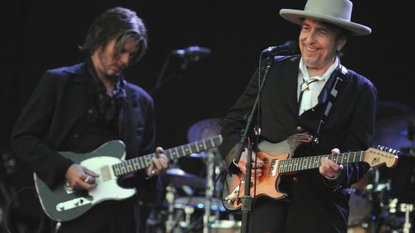 Bob Dylan performs at Vieilles Charrues music festival on July 22, 2012, in Carhaix-Plouguer, France. The singer is being sued by a France-based Croat organization for racism.