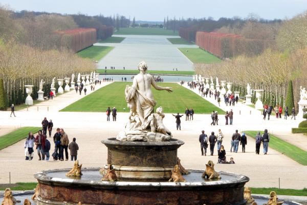 Andre Le Notre pumped in water from the Seine River to create the Grand Canal at Chateau of Versailles.