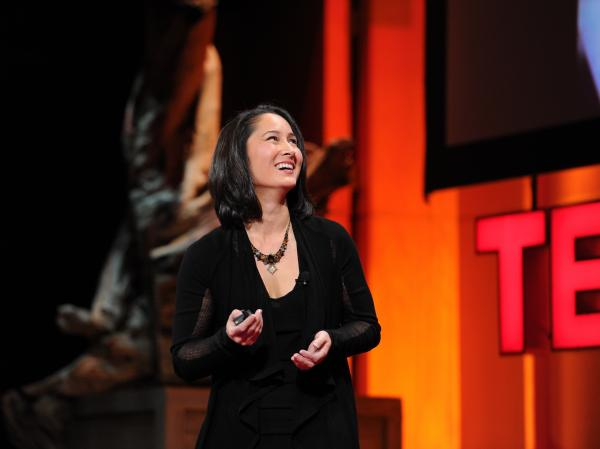 Cynthia Breazeal speaking at TEDWomen conference.