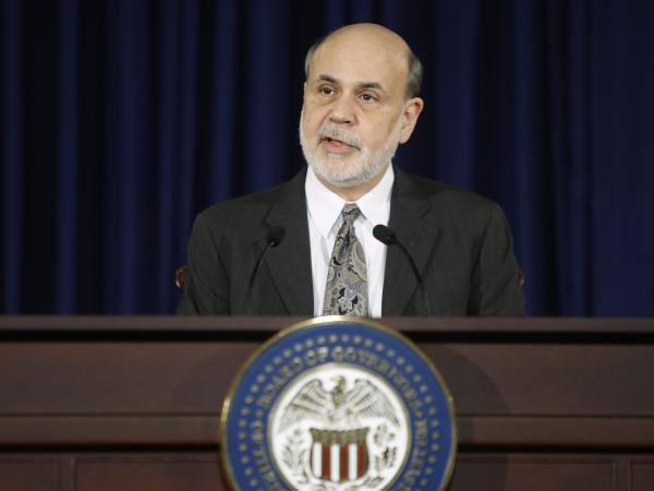 Federal Reserve Chairman Ben Bernanke delivers remarks Wednesday in Washington, at his final planned news conference before he steps down.