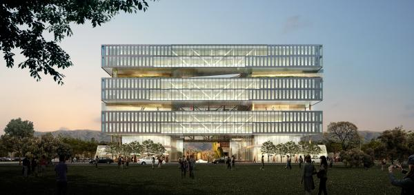 Architect's rendering of Samsung's new facility in San Jose, Calif.