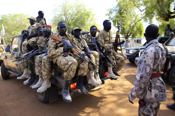 South Sudanese troops have retaken the flashpoint town of Bor, north of the capital Juba.