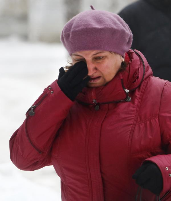 A woman wiped away tears Monday in Volgograd, Russia, after the second suicide bombing in that city in the past two days.
