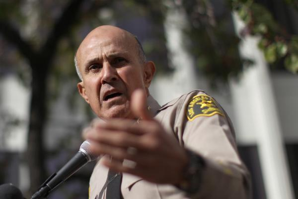 Los Angeles County Sheriff Lee Baca announces his unexpected retirement on Tuesday in Los Angeles, Calif.