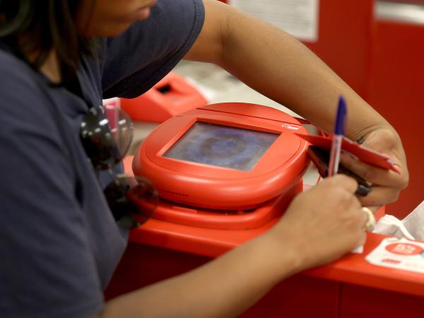 Hackers use credit card scanning machines as part of their sophisticated campaign to steal credit card information and sell it.
