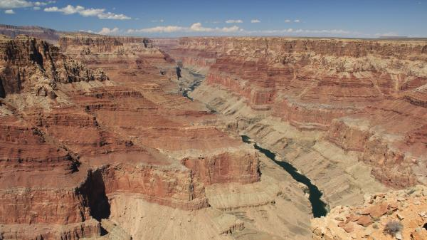 Recent analyses suggest that this stretch of the Grand Canyon (Marble Canyon, near Cape Solitude) was beneath more than a mile of layered rock until 6 million years ago, when a mighty river came through and scooped it out.