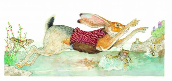 <em>Excerpted from </em>The Tortoise & The Hare<em> by Jerry Pinkney. Copyright 2013 by Pinkney. Excerpted by permission of </em><em>Little, Brown Books for Young Readers.</em>