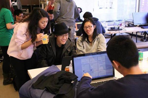Participants collaborate on coding projects at StudentRND's CodeDay SF in January 2014.