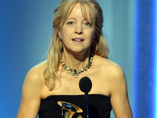 Composer and bandleader Maria Schneider accepts her Grammy Award. Her album <em>Winter Morning Walks</em> earned three awards yesterday at the pre-telecast Grammy ceremony in Los Angeles.