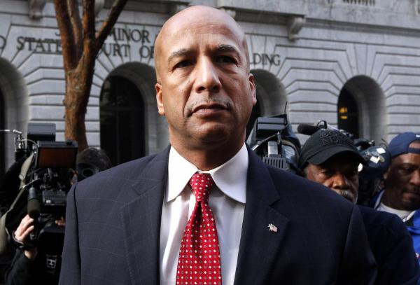 Ray Nagin arrives at the Hale Boggs Federal Building in New Orleans, Monday, Jan. 27, 2014. (Jonathan Bachman/AP)