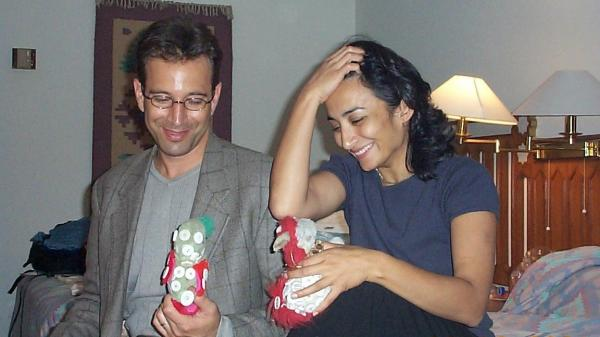 Daniel Pearl and Asra Nomani in Karachi in 2001
