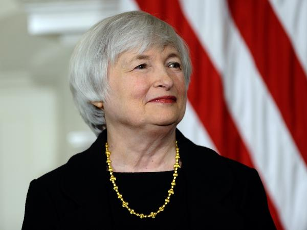 Janet Yellen smiles as President Obama announces her nomination for Federal Reserve chairwoman on Oct. 9.