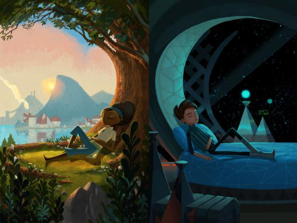 Vella (left) and Shay (right) are the main characters of Broken Age: Act I, a game funded through Kickstarter.