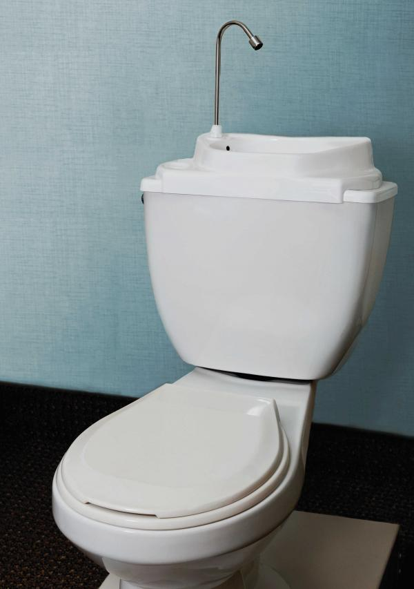 SinkPositive's eco-friendly sink/toilet hybrids decrease water waste.