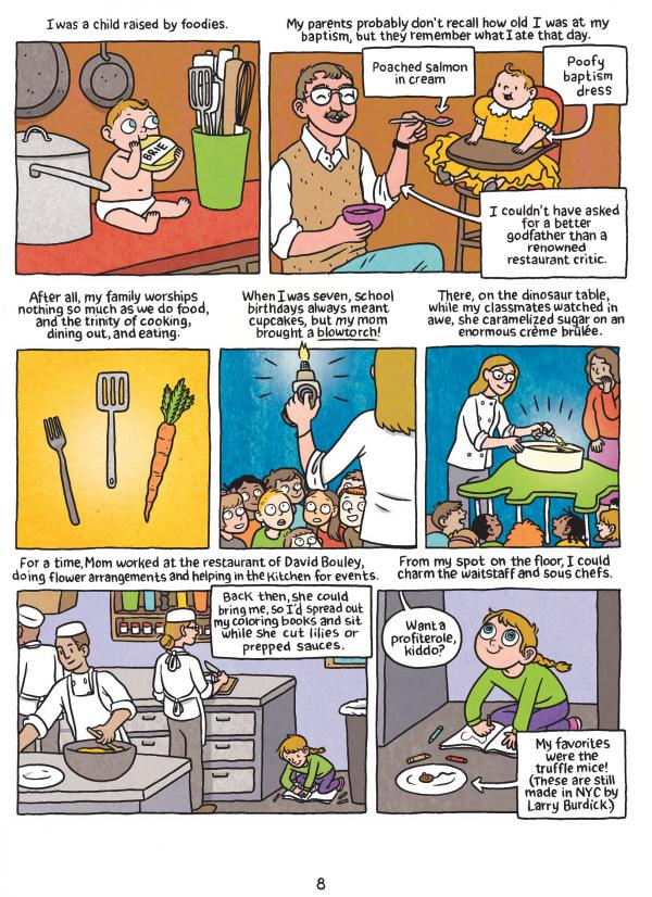 <p>A page from Lucy Knisley's <em>Relish, </em>a comic food memoir.</p><p></p>