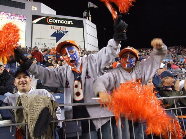 Broncos fans of all ages will be decked from head to toe in orange and blue for this Sunday's face-off against the Broncos. (Jeffrey Beall/Flickr)