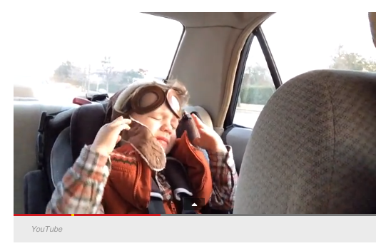 A four-year-old is moved by a pop song.