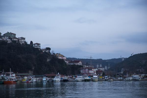 The fishing harbor of Poyrazkoy is across the Bosphorus from Garipce and will also be traversed by the Third Bosphorus Bridge.