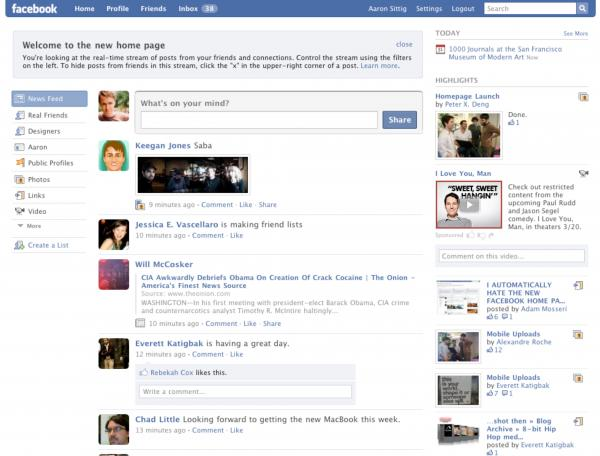 2009: News Feed is updated in real-time.