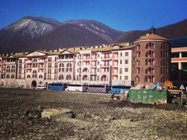 In Sochi, sporting arenas are ready to receive athletes and visitors, but some stores and hotels aren't quite finished.