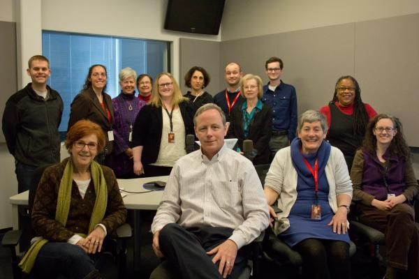 The newly-combined newsroom of St. Louis Public Radio / Beacon