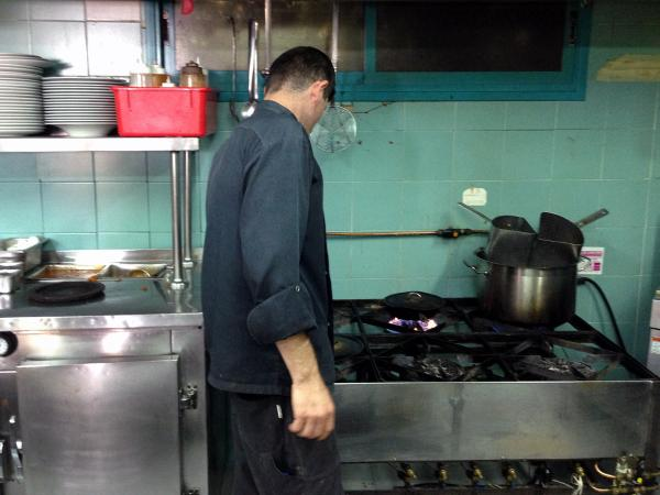 Abu Mustafa, a psuedonym for a Palestinian who works as a restaurant cook in the Israeli-controlled West Bank. He asked that his real name not be used.