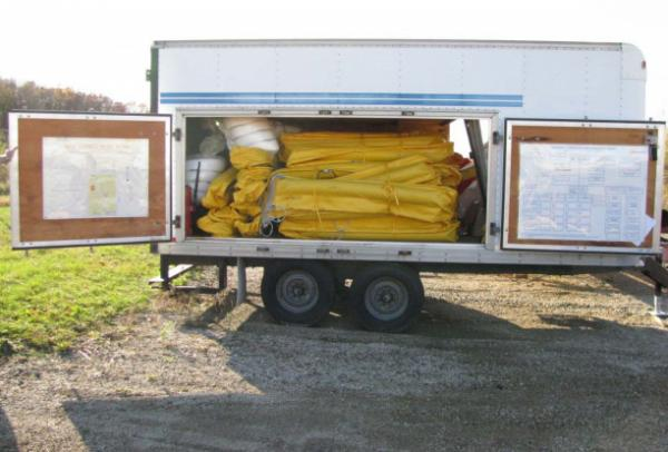 Enbridge PLM emergency response trailer containing the company's Tier 1 oil  containment equipment, October 17, 2010.