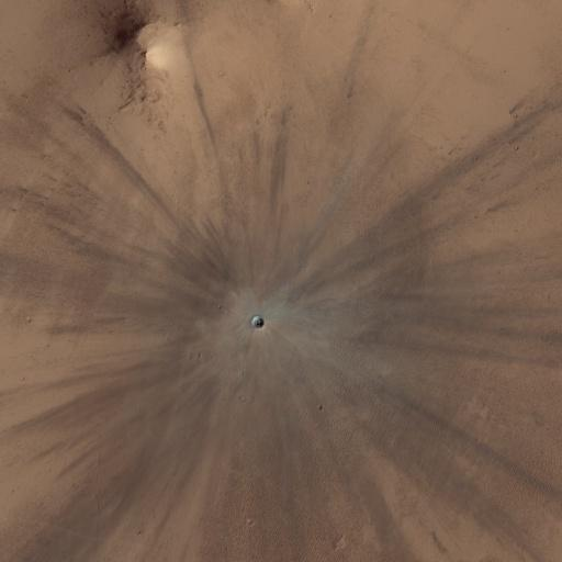 A true-color image of the same crater.
