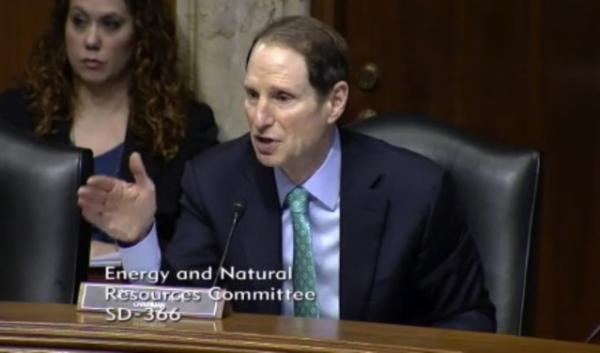 "Sen. Ron Wyden, D-Ore., asks the strongest critics of his bill if they both ""might be a little wrong"" at a hearing before the Senate Energy and Natural Resources Committee."