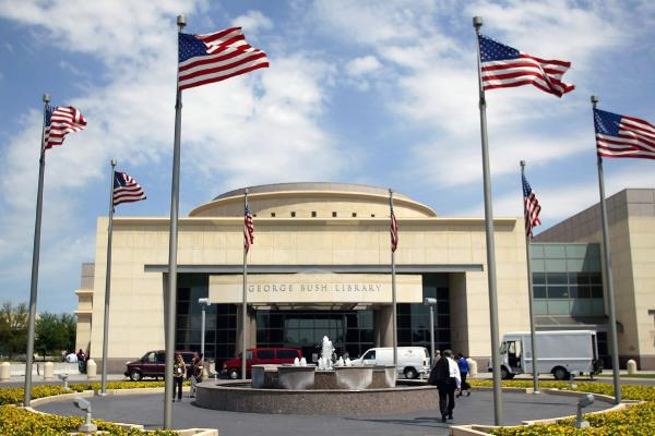 The George Bush Presidential Library and Museum in College Station, Texas.