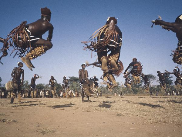 Irigwe dancers in 1959, Miangovillage, Jos Plateau, Nigeria.
