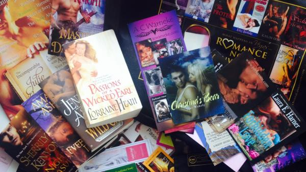 "Jesse Barron's TBR pile of HEAs (that's ""To Be Read"" and ""Happily Ever After"" for you non-romance readers), includes several authors featured at the 2013 Romance Novel Convention."