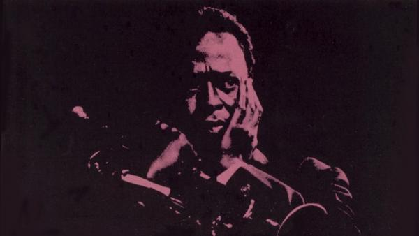 Detail from the cover of Miles Davis' <em>Four & More</em>. The album was one of two gleaned from a 1964 concert at Philharmonic Hall in New York.