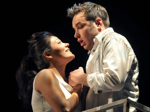 Soprano Ailyn Perez and tenor Stephen Costello met in music school. Now married, the couple sings together around the world — as in Gounod's <em>Romeo and Juliet</em> at Opera Philadelphia in 2001.