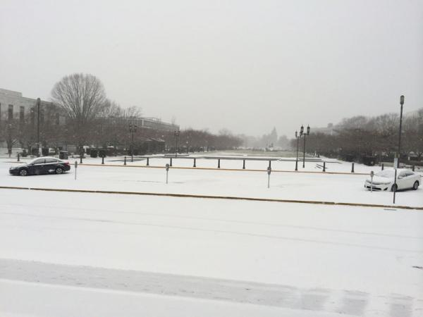 A view of the Capitol mall in Salem on Thursday afternoon.