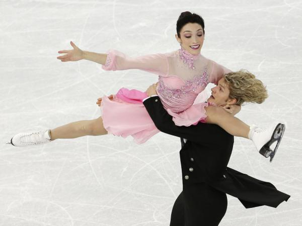 Meryl Davis and Charlie White of the United States compete in the team ice dance short dance figure skating competition at Sochi on Saturday.