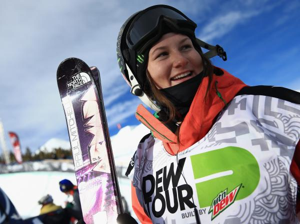 Devin Logan after finishing sixth in the women's ski superpipe at December's Dew Tour iON Mountain Championships in Breckenridge, Colo.