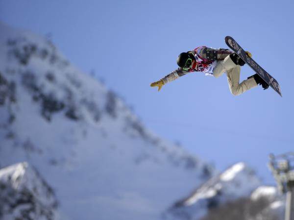 Shaun White of Team USA during a training session Saturday in Sochi.
