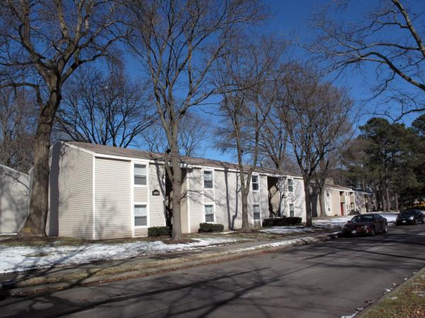 The 40-year-old Woodmere Trace apartment complex in Norfolk is being fixed up by the housing trust, allowing low-income residents to move in.
