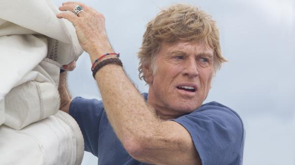In <em>All Is Lost</em>, Robert Redford plays an unnamed sailor, stranded at sea on a badly damaged yacht.