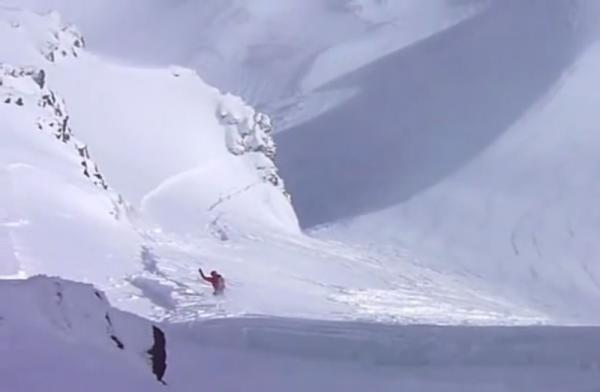 A skier is nearly caught in an avalanche in central Oregon.
