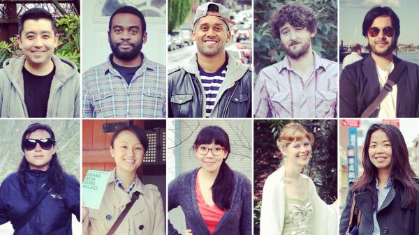 (From top left, clockwise) Noah Cho, Carlton Purvis, Shehan Jayatilak, Nathan Gaar, Siddique Abbasi; Shu Ping Guan, Laura Banish, Lizzie Chen, Aiko Loo, Maria Zamudio