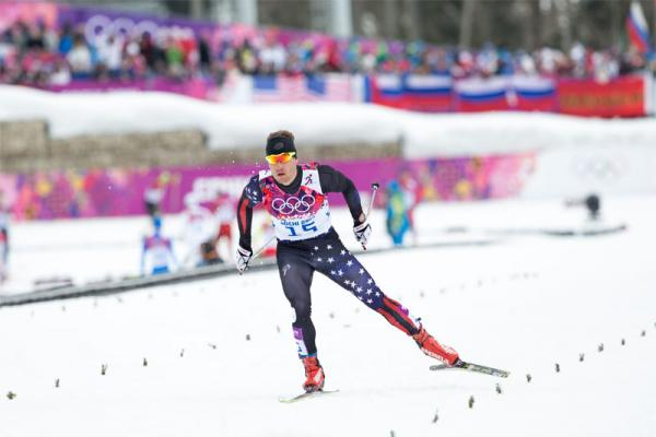 Former Sun Valley skier Simi Hamilton competes in the skate sprint Tuesday.