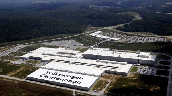 Volkswagen's car plant in Chattanooga, Tenn., is the company's only one in the U.S. Its employees voted this week on whether to join the United Auto Workers union.